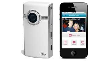 flip camera iPhone wedding video