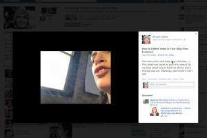 how to embed video in blog from Facebook