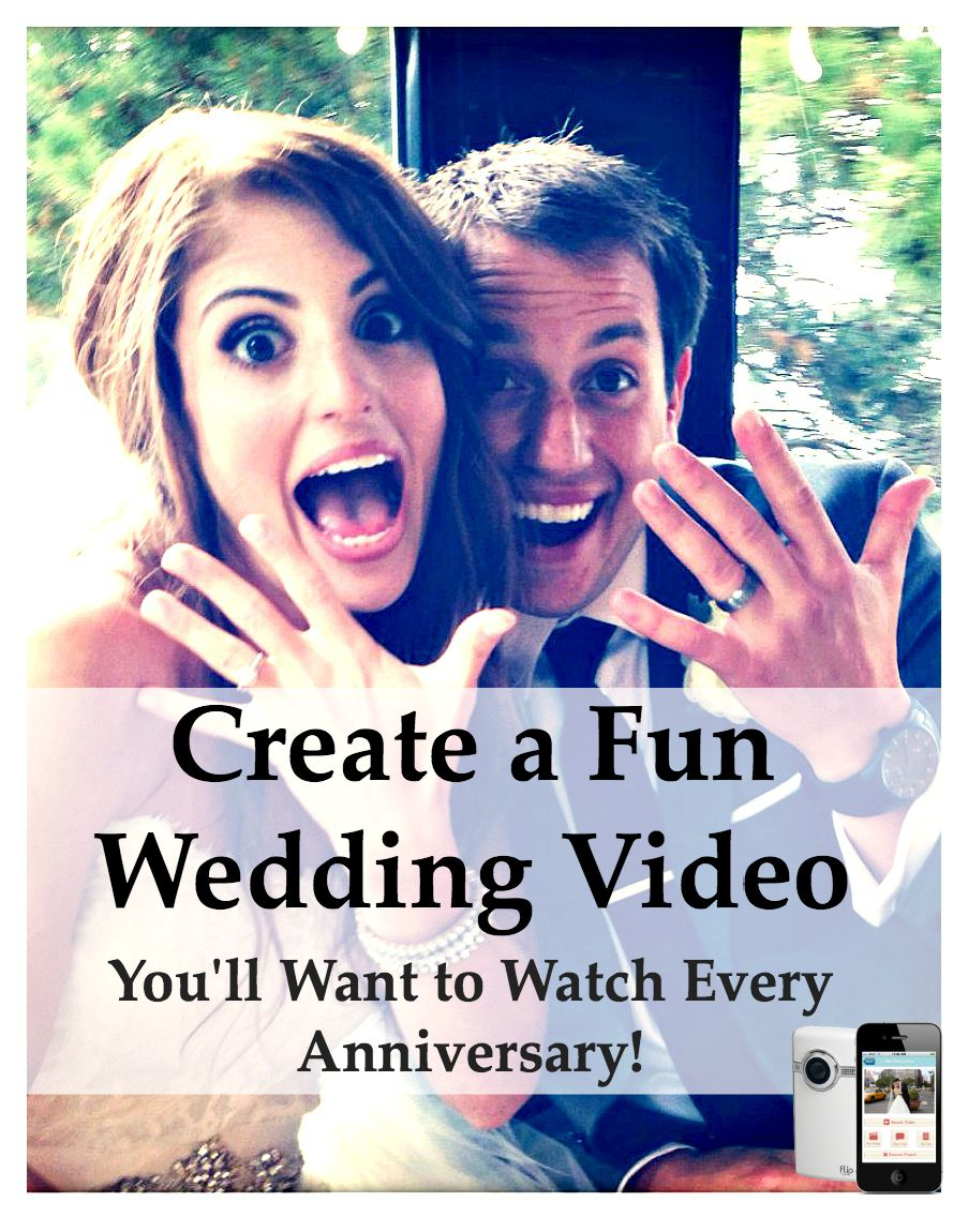create a wedding video fun