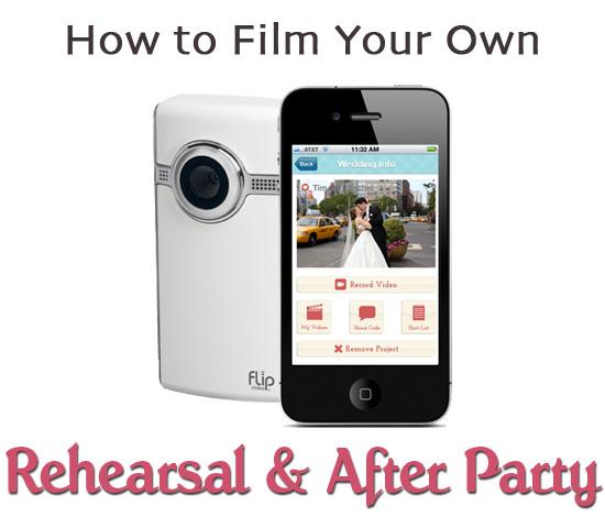 Film your own rehearsal dinner wedding video with WeddingMix