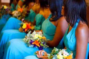Gorgeous teal bridesmaid dresses