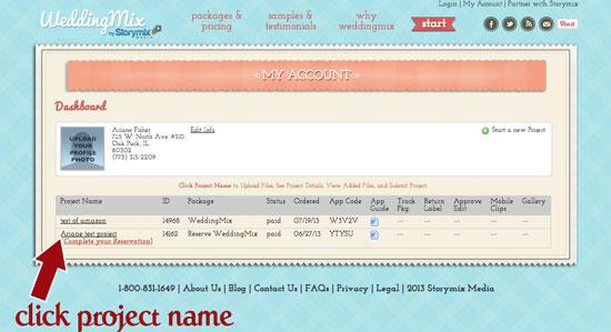 clickprojectname