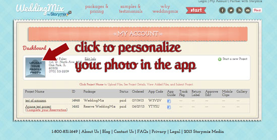 How to personalize your WeddingMix wedding photo app