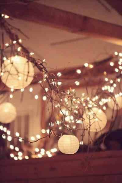 Rustic Wedding Lights