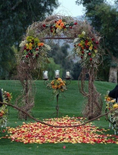 Outdoor fall wedding ideas on a budget