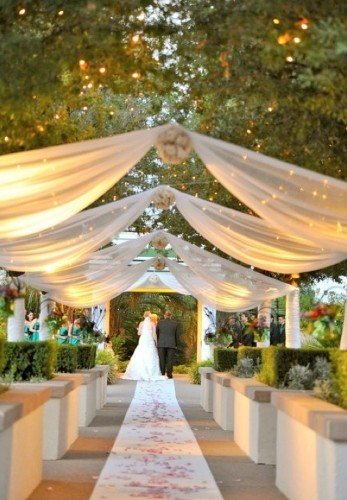 Outdoor summer wedding ceremony ideas
