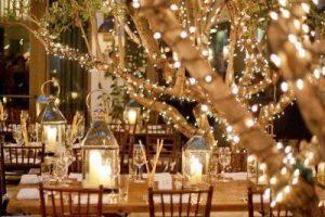 Outdoor summer wedding ideas lighting