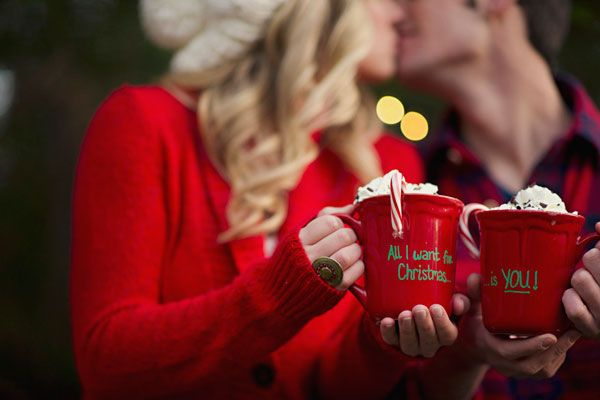 Christmas Engagement Announcement Card