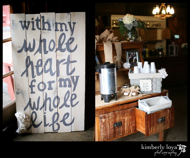 Adorable DIY Wedding sign made out of an old door! Cute for a rustic theme