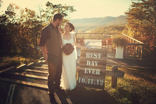 DIY wedding sign best day ever