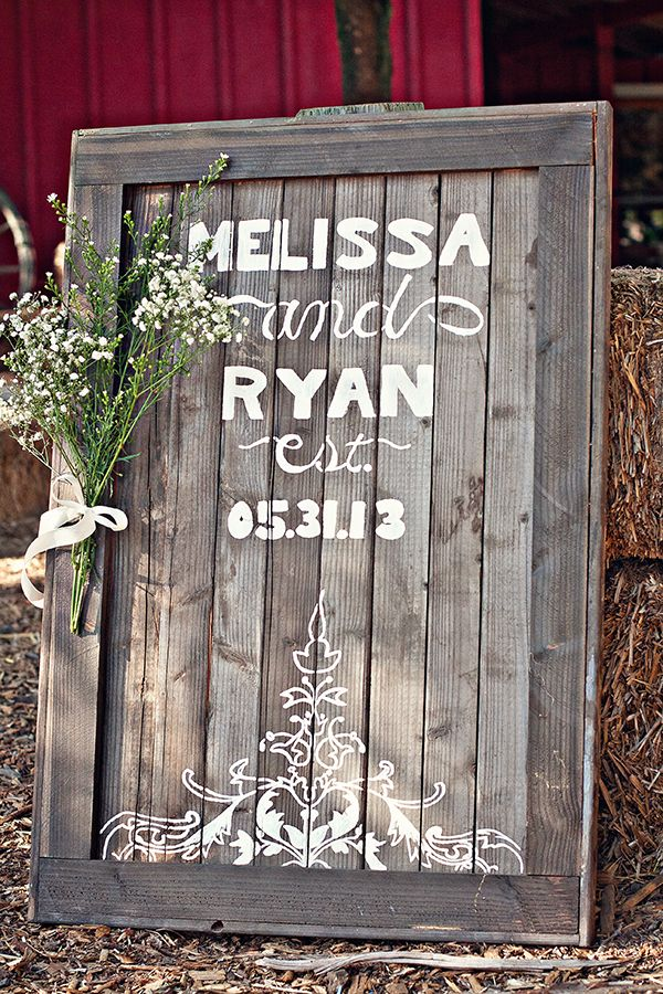 Rustic barn DIY Wedding Sign