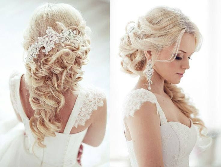 Wedding day hairstyle blonde