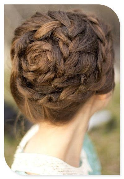Unique wedding day hairstyle updo braid