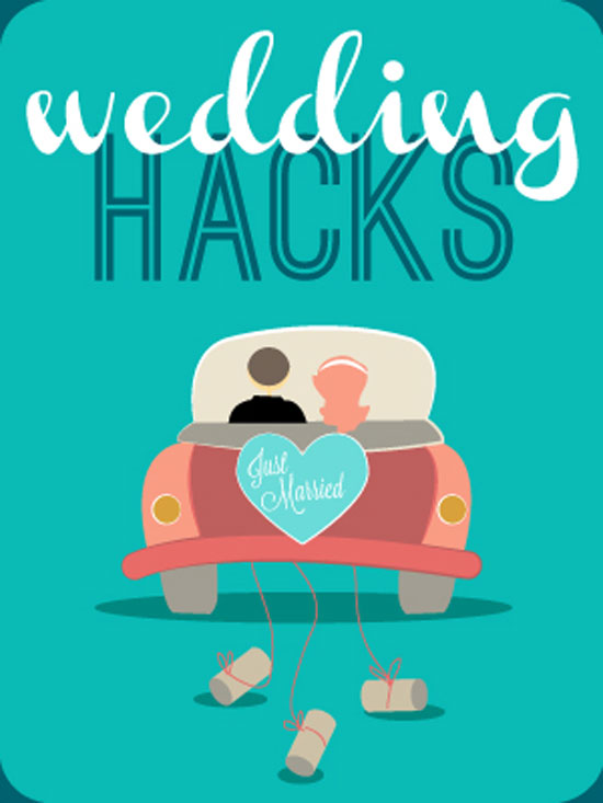 With a little creativity and 'hacking' it is possible to cut out a lot of time and money in the planning stages of a wedding. If you are planning a wedding or know someone that is in the process, share this graphic with them. Chances are it will save them a lot of stress. Thanks @weddingmix!