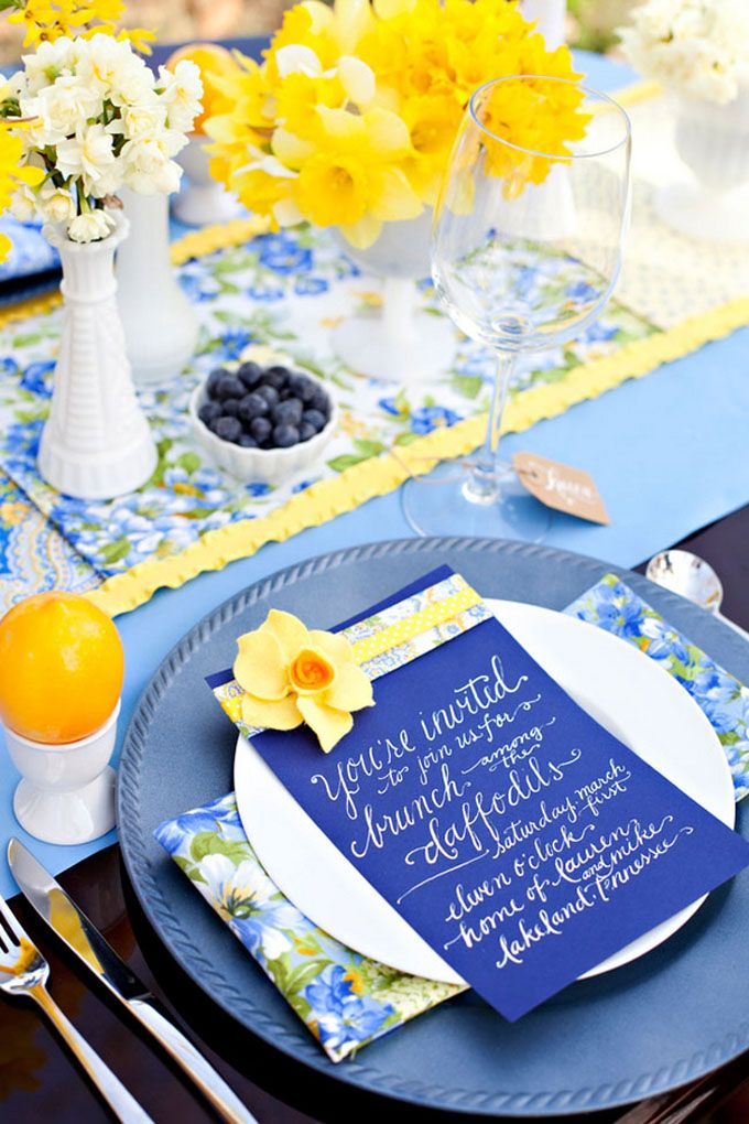 Spring wedding blue colors