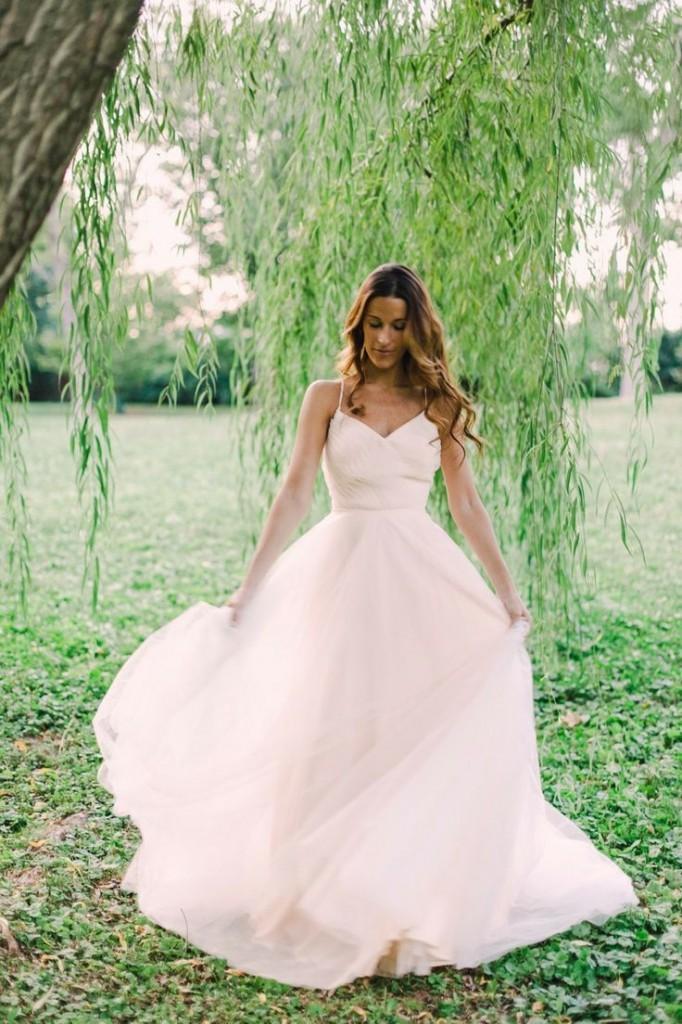 Non-traditional spring wedding dress