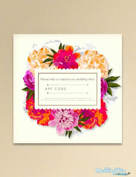 video app table card bouquet