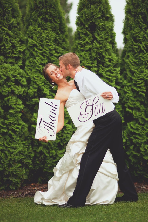 wedding thank you photo ideas