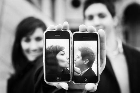 iPhone wedding photo