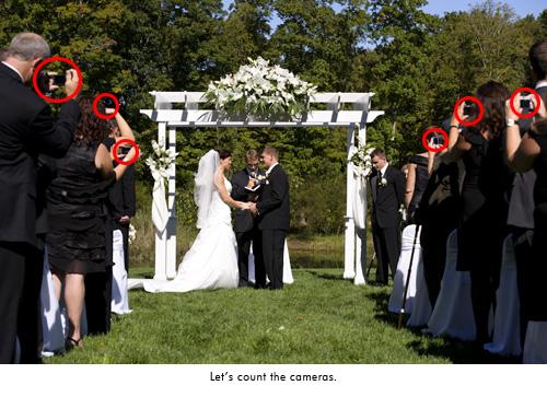 bad camera etiquette wedding