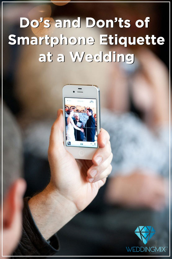 smartphone wedding etiquette