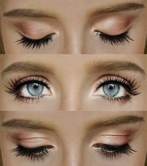 natural makeup ideas for blue eyes