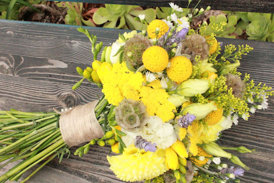 Yellow And Purple Diy Wedding Flowers