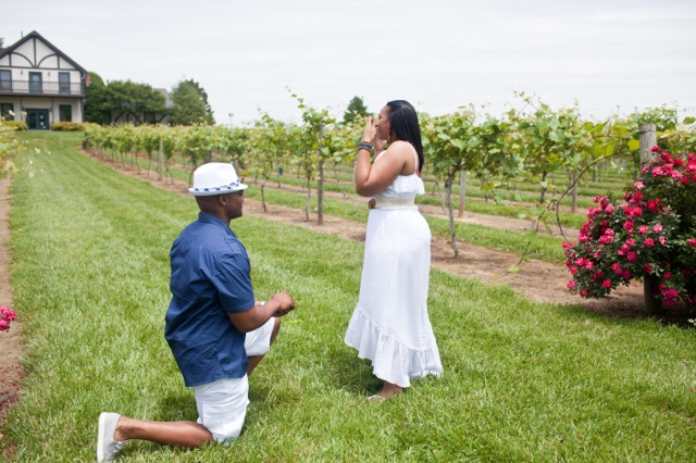Surprise proposal pictures during a photo shoot for Surprise engagement photo shoot