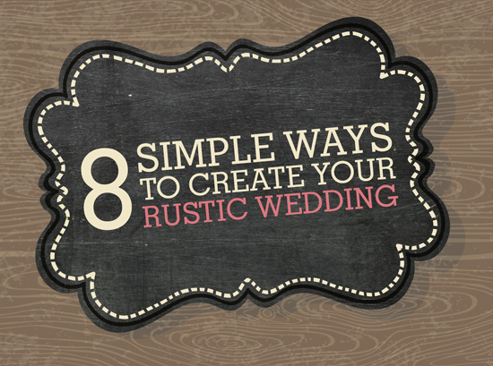 rustic wedding infographic