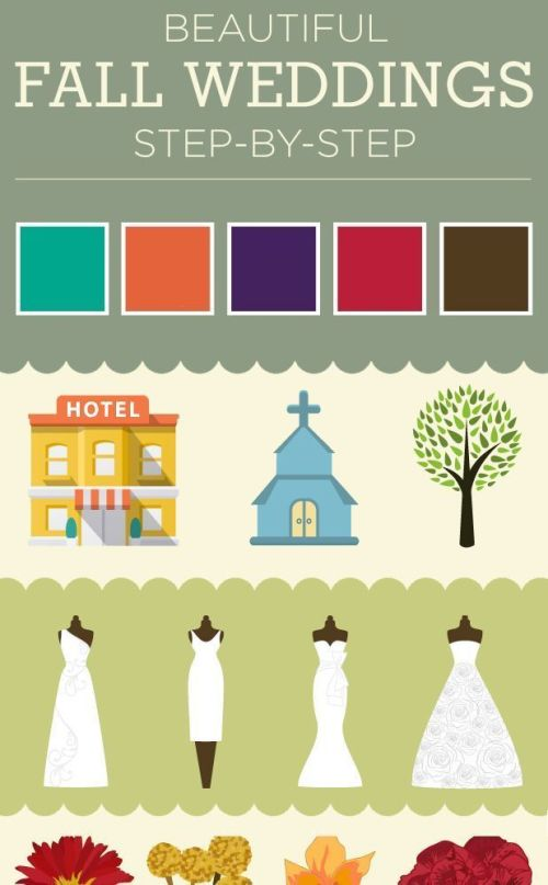 beautiful fall wedding ideas infographic