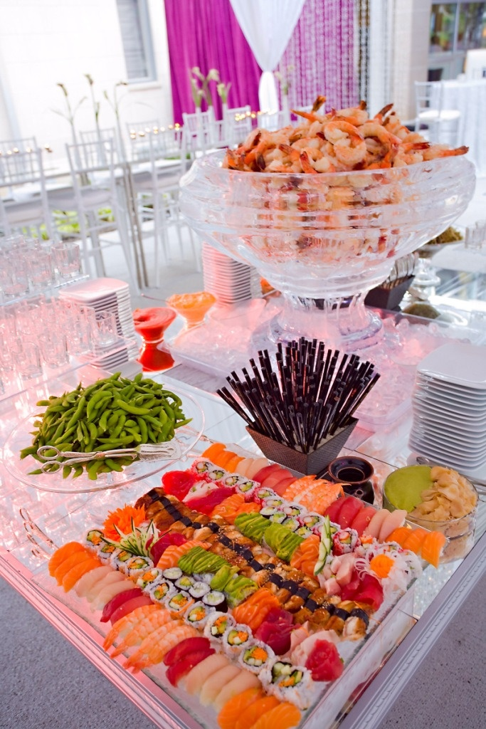 cool wedding buffet displays