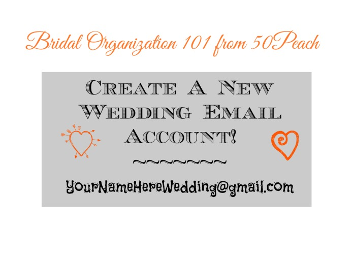 Create your own wedding email