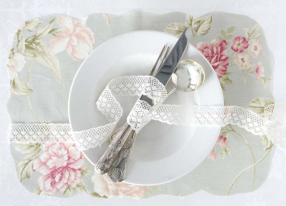 vintage wedding placemat ideas