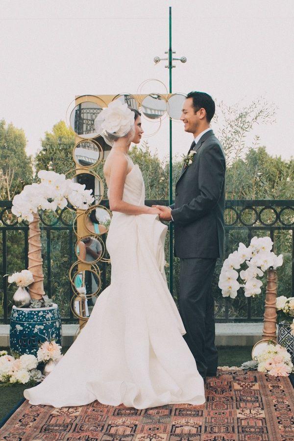 diy ring mirror wedding