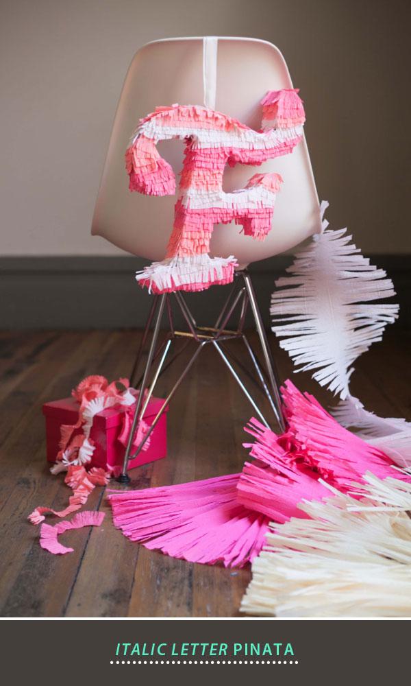 diy monogram piñata