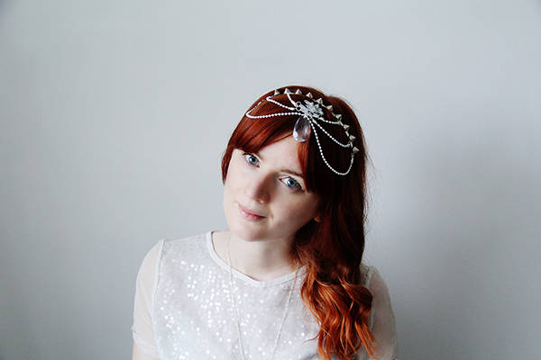 unique bridal hairpiece DIY