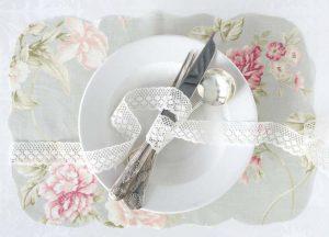 vintage wedding placemat ideas