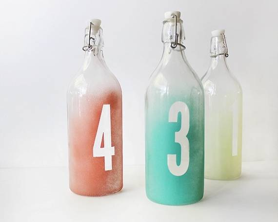 wedding watercolor table numbers