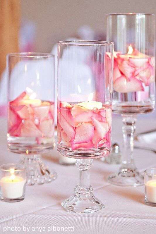 rehearsal dinner table flower ideas