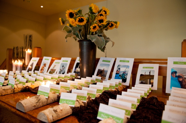 Nature Inspired Wedding Table Cards