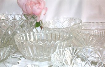 vintage wedding glassware