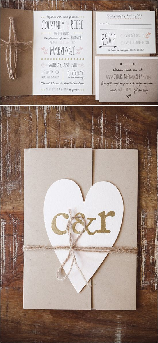 rustic wedding ideas invitation
