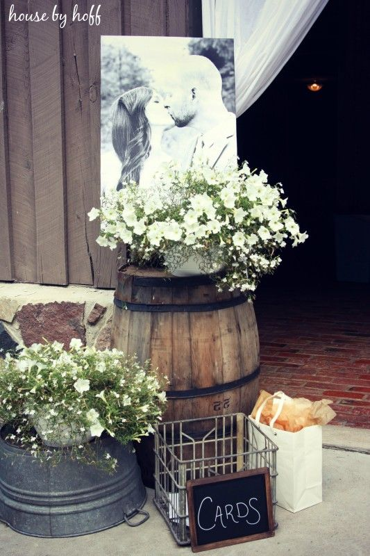 rustic country reception wedding ideas