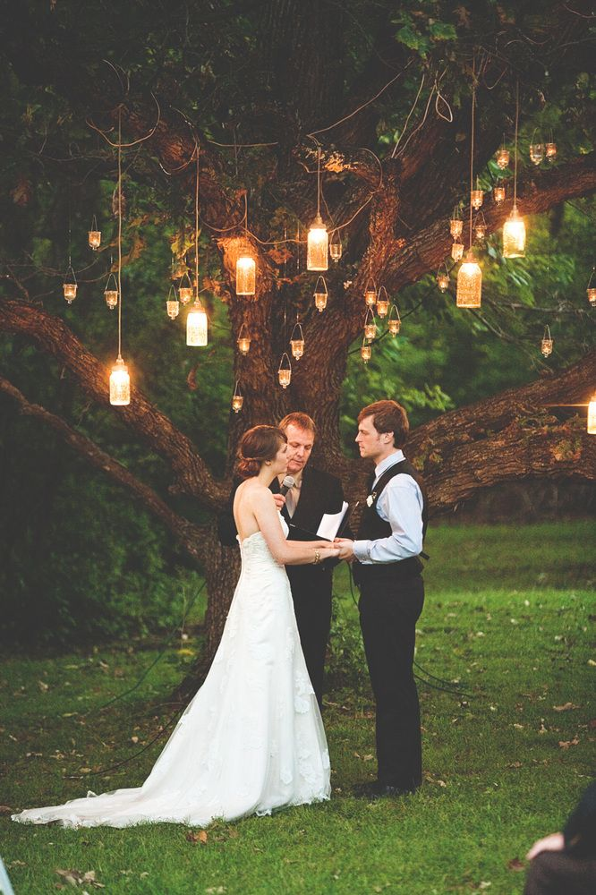 rustic wedding idea lantern lighting