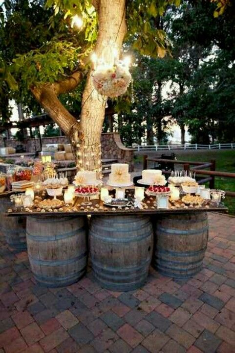 Rustic Wedding Ideas Barrels