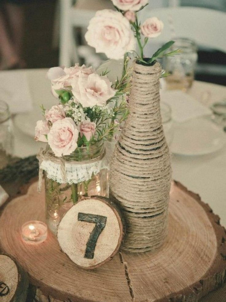 diy centerpieces rustic wedding ideas
