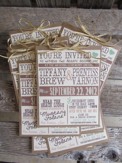 rustic invitation ideas wedding