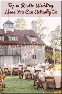 rustic wedding ideas you can actually do