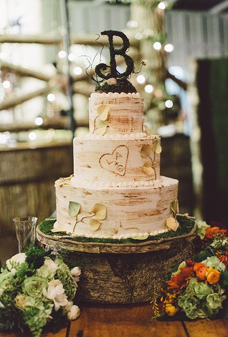 fall rustic wedding cake ideas