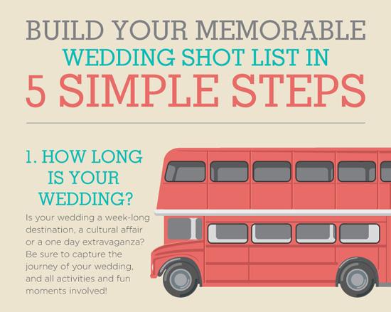 unique wedding shot list